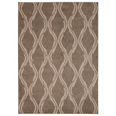 Longshore Tides Galsworthy Taupe Area Rug; 5'3'' x 7'5''