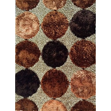 Latitude Run Tiona Brown Area Rug; 7' x 10'