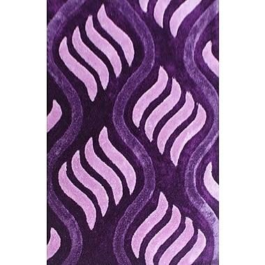 Latitude Run Obed Purple Area Rug; 5'3'' x 7'2''