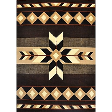 Loon Peak Douglas Black Area Rug; Runner 2' x 7'2''