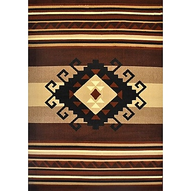 Loon Peak Doyle Brown Area Rug; Runner 2'7'' x 14'6''
