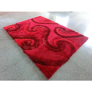 Latitude Run Savitha Red Area Rug; 5'3'' x 7'2''