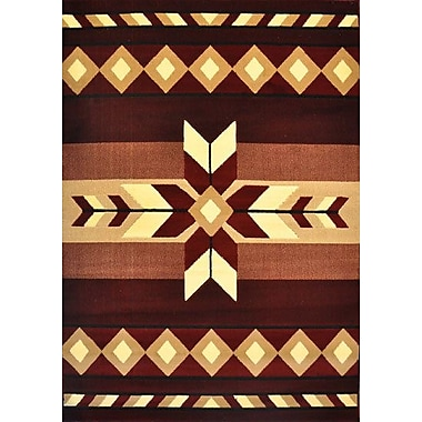 Loon Peak Draven Burgundy Area Rug; 5'3'' x 7'2''