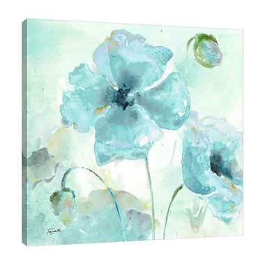 Ophelia & Co. 'Watercolor Blue Poppy VII' Print on Wrapped Canvas; 12'' H x 12'' W