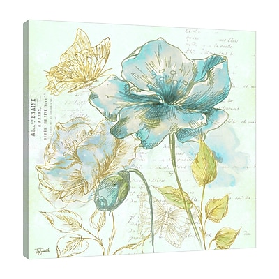 Ophelia & Co. 'Watercolor Flower Sketch II' Graphic Art Print on Wrapped Canvas; 30'' H x 30'' W