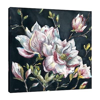 Ophelia & Co. 'Magnolia on Black' Square Print on Wrapped Canvas; 12'' H x 12'' W