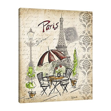 Ophelia & Co. 'Paris Sketch: Caf ' Graphic Art Print on Wrapped Canvas; 25'' H x 20'' W