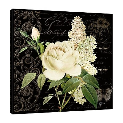 Ophelia & Co. 'Le Fleur Paris I' Graphic Art Print on Wrapped Canvas; 36'' H x 36'' W