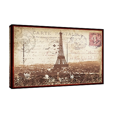 Ophelia & Co. 'Paris Nights' Graphic Art Print on Wrapped Canvas; 12'' H x 18'' W