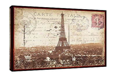 Ophelia & Co. 'Paris Nights' Graphic Art Print on Wrapped Canvas; 10'' H x 15'' W