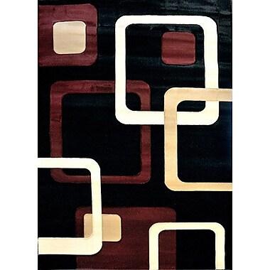 Orren Ellis Sonora Black Area Rug; Runner 2'7'' x 9'10''