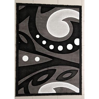 Ebern Designs Hector Black Area Rug; 7'11'' x 9'10''