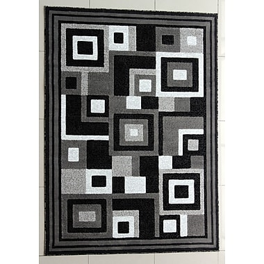 Ebern Designs Rabehi Dark Gray Area Rug; Runner 2'7'' x 14'6''