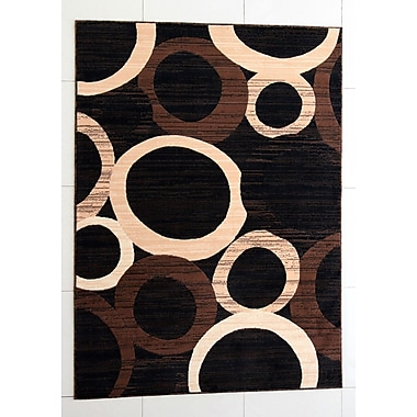 Ebern Designs Ossher Black Area Rug; 10' x 13'