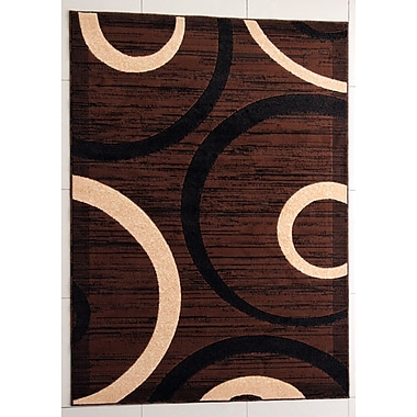 Ebern Designs Pearsons Brown Area Rug; 10' x 13'