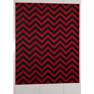 Ebern Designs Nelissen Red Area Rug; Runner 2' x 7'2''