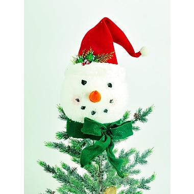 The Holiday Aisle 16'' Snowman Head w/ Hat Tree Topper