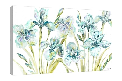 Winston Porter 'Iris' Watercolor Painting Print on Wrapped Canvas; 30'' H x 40'' W