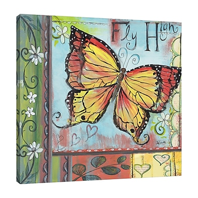 Winston Porter Butterfly Fly High' Print on Wrapped Canvas; 18'' H x 18'' W