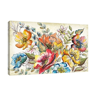 Winston Porter 'Floral Garden Sketch III' Print on Wrapped Canvas; 12'' H x 18'' W