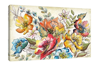Winston Porter 'Floral Garden Sketch III' Print on Wrapped Canvas; 32'' H x 48'' W