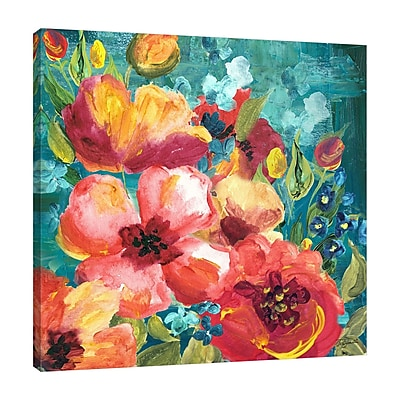 Winston Porter 'Rainbow Garden II' Print on Wrapped Canvas; 24'' H x 36'' W