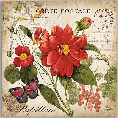 Winston Porter 'Floral Postcard I' Graphic Art Print on Wrapped Canvas; 18'' H x 18'' W