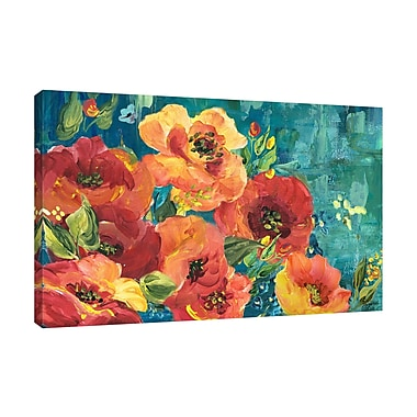 Winston Porter 'Rainbow Garden' Print on Wrapped Canvas; 10'' H x 15'' W