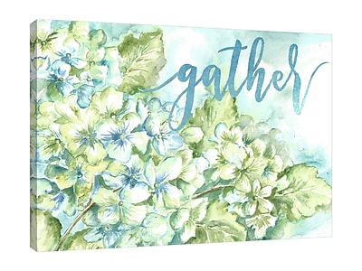 Winston Porter 'Hydrangeas: Gather' Watercolor Painting Print on Wrapped Canvas; 24'' H x 32'' W