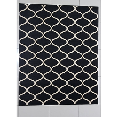 Winston Porter Harborview Black Area Rug; Runner 2' x 7'2''