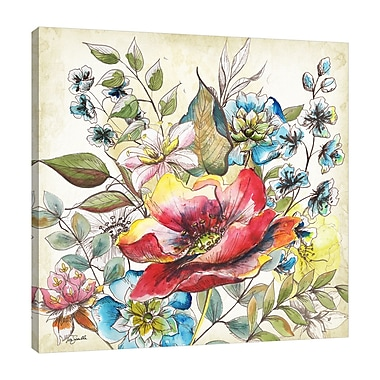 Winston Porter 'Floral Garden Sketch IV' Print on Wrapped Canvas; 18'' H x 18'' W