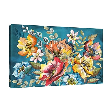 Winston Porter 'Floral Garden Sketch II' Print on Wrapped Canvas; 24'' H x 36'' W