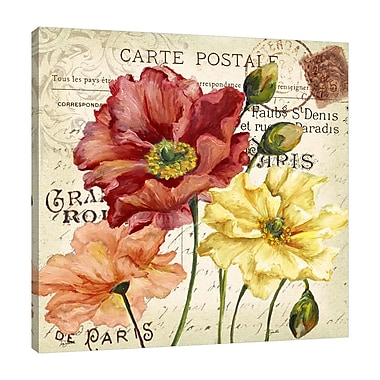 Winston Porter 'Colorful Poppies II' Graphic Art Print on Wrapped Canvas; 24'' H x 24'' W