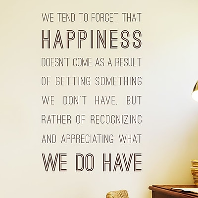 Wallums Wall Decor Happiness We Do Have Wall Decal; Chocolate Brown