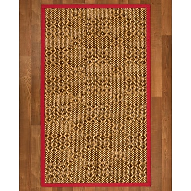 World Menagerie Camile Sisal Red Area Rug; 3' X 5'
