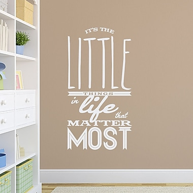 Wallums Wall Decor The Little Things in Life Quote Wall Decal; White