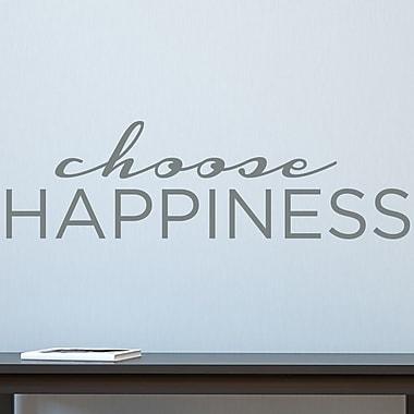 Wallums Wall Decor Choose Happiness Wall Decal; Gray