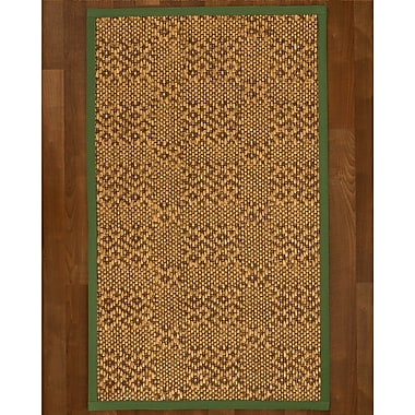 World Menagerie Camile Sisal Green Area Rug; 8' X 10'
