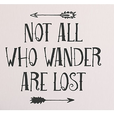 Wallums Wall Decor Not All Who Wander Are Lost Wall Decal; Black
