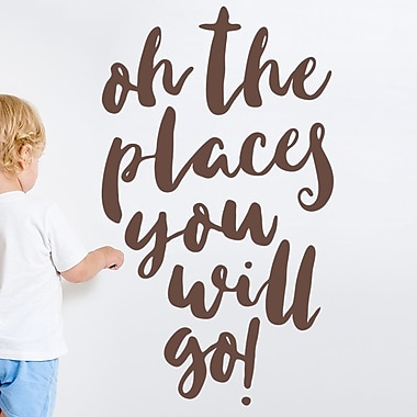 Wallums Wall Decor Oh the Places You Will Go Wall Decal; Chocolate Brown