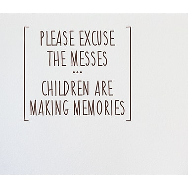 Wallums Wall Decor Children Are Making Memories Wall Decal; Chocolate Brown