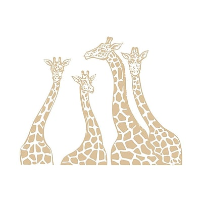 Decal House Giraffe Family Wall Decal; Beige