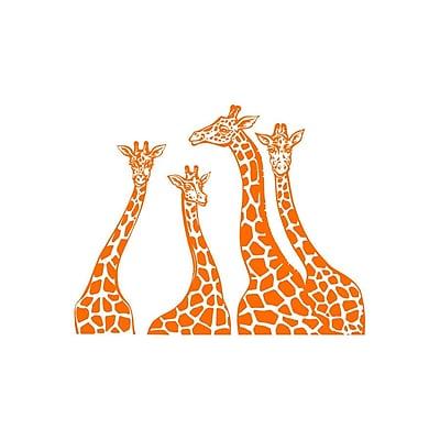 Decal House Giraffe Family Wall Decal; Orange