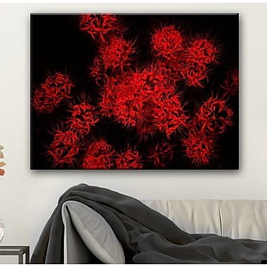 Ebern Designs 'Scarlet Autumn' Photographic Print on Canvas; 30'' H x 40'' W