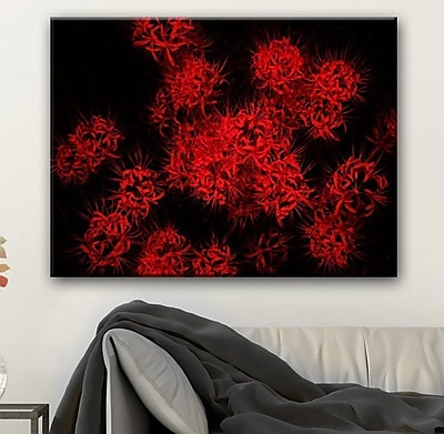 Ebern Designs 'Scarlet Autumn' Photographic Print on Canvas; 20'' H x 30'' W