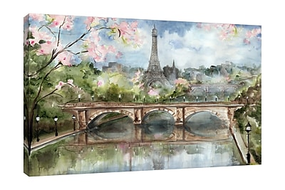 Ophelia & Co. 'Paris in the Springtime' Print on Wrapped Canvas; 10'' H x 15'' W