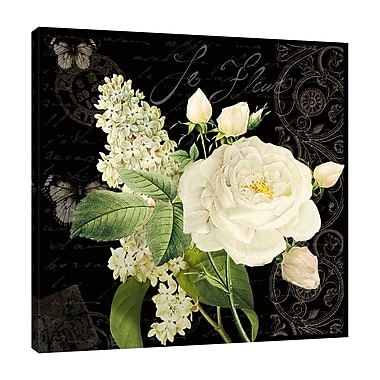 Ophelia & Co. 'Le Fleur Paris II' Graphic Art Print on Wrapped Canvas; 12'' H x 12'' W