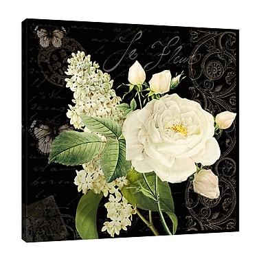 Ophelia & Co. 'Le Fleur Paris II' Graphic Art Print on Wrapped Canvas; 18'' H x 18'' W