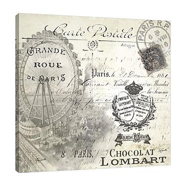 Ophelia & Co. 'Paris: Carte Postal' Graphic Art Print on Wrapped Canvas; 24'' H x 24'' W