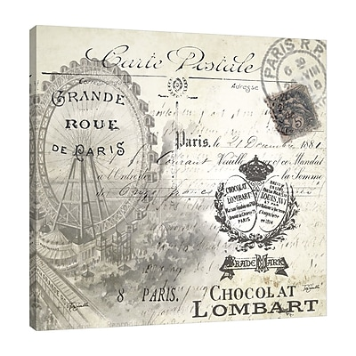 Ophelia & Co. 'Paris: Carte Postal' Graphic Art Print on Wrapped Canvas; 30'' H x 30'' W